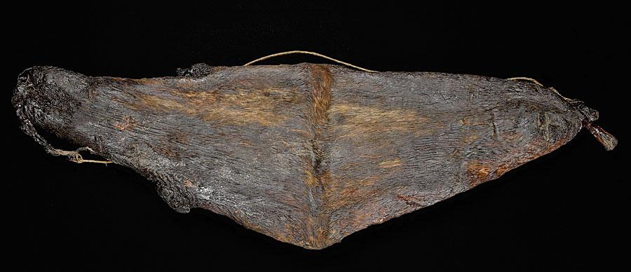 gammel og velbrukt spekkpose for oppbevaring av spekk