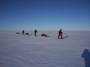 Centenary Expedition to the South Pole 1911-2011 skiing in Antarctica