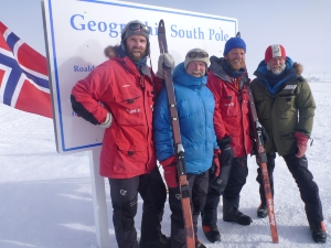 Jan-Gunnar Winther, Harald Dag Jølle, Stein P. Aasheim and Vegard Ulvang at the South Pole