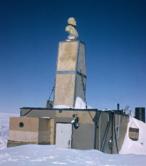 Bust of Lenin at the Pole of Inaccessibility.