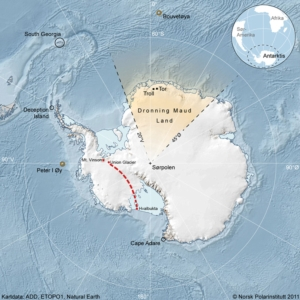 Map over Antarctica