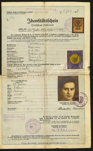 A Nansen passport issued to a Russian refugee