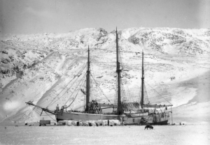 Fram stuck in the ice during her second expedition