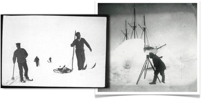 Historical pictures from the South Pole
