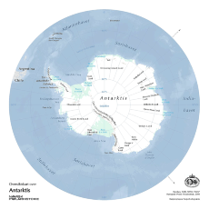 Overview map of the Antarctic