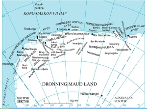 Map of Dronning Maud Land
