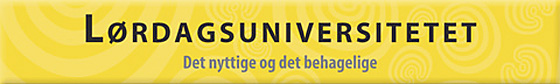 Banner for lørdaguniversitetet