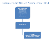 Graphic showing the organizational structure of the Nansen-Amundsen Year